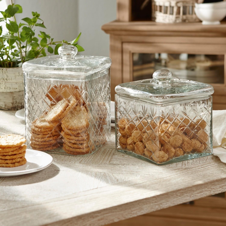 Glazen pot set van 2 Cherie | LOBERON | 4250769227262