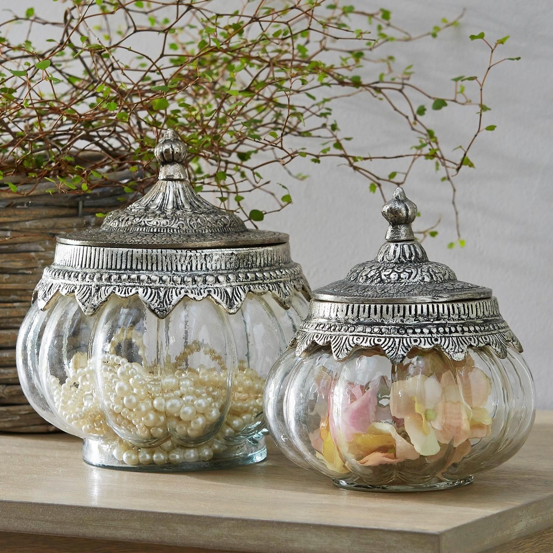 Glazen pot set van 2 Madelon | LOBERON | 4250769235564