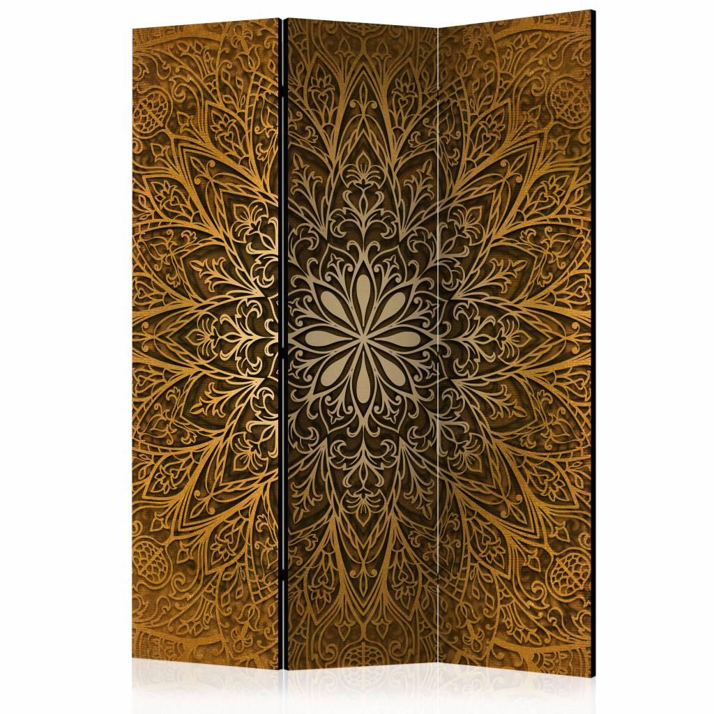 Vouwscherm – Bruine Mandala 135×172 cm | Karo-art | 5902875657561