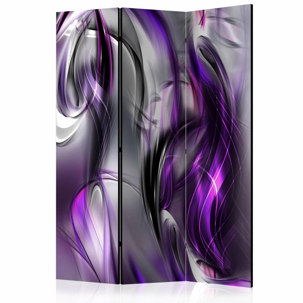 Vouwscherm – Paarse krullen 135x172cm | Karo-art | 5902875655512
