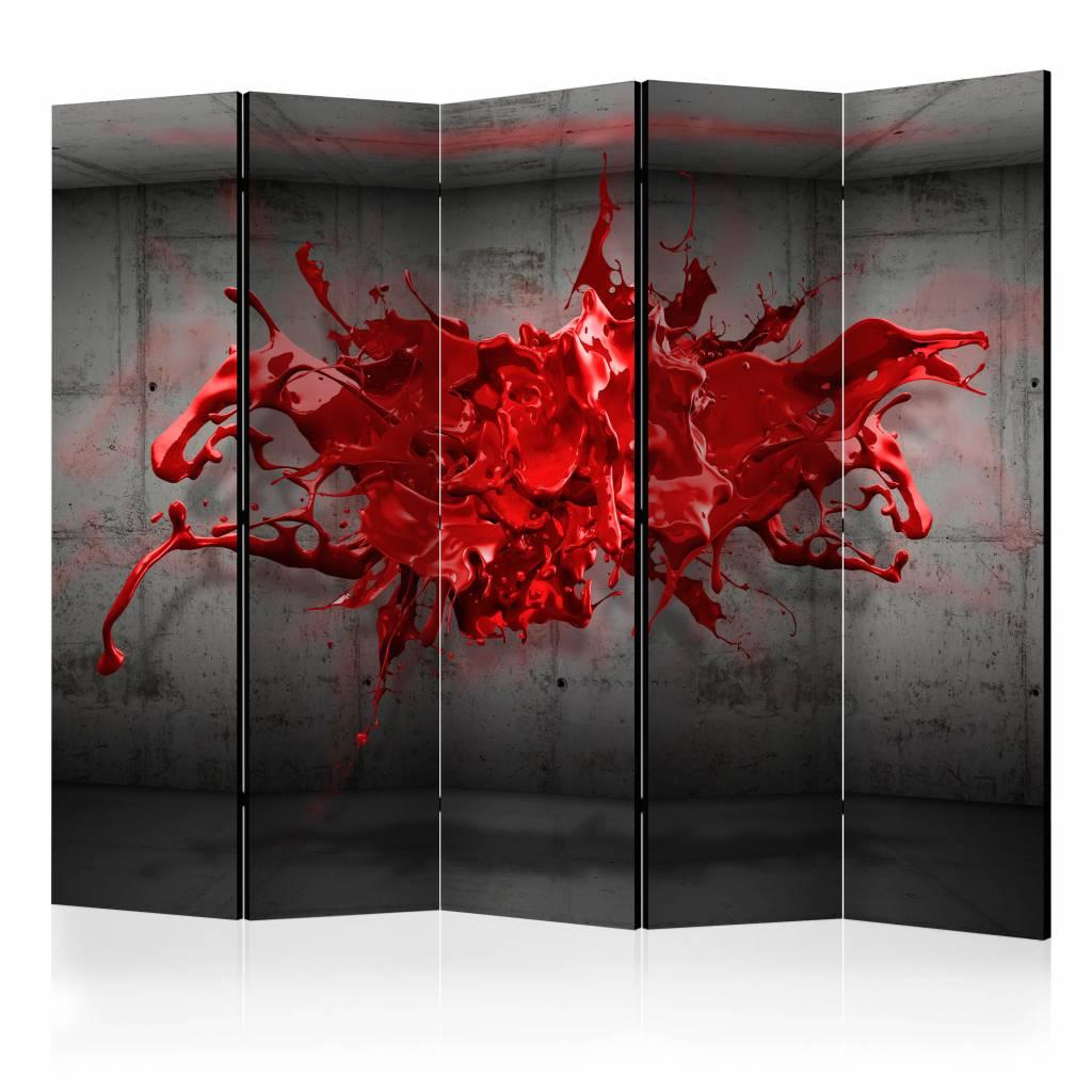 Vouwscherm – Rode inkt 225x172cm | Karo-art | 5902875656168