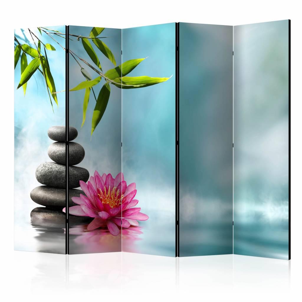 Vouwscherm – Water lelie en Zen stenen 225x172cm | Karo-art | 5902875658933