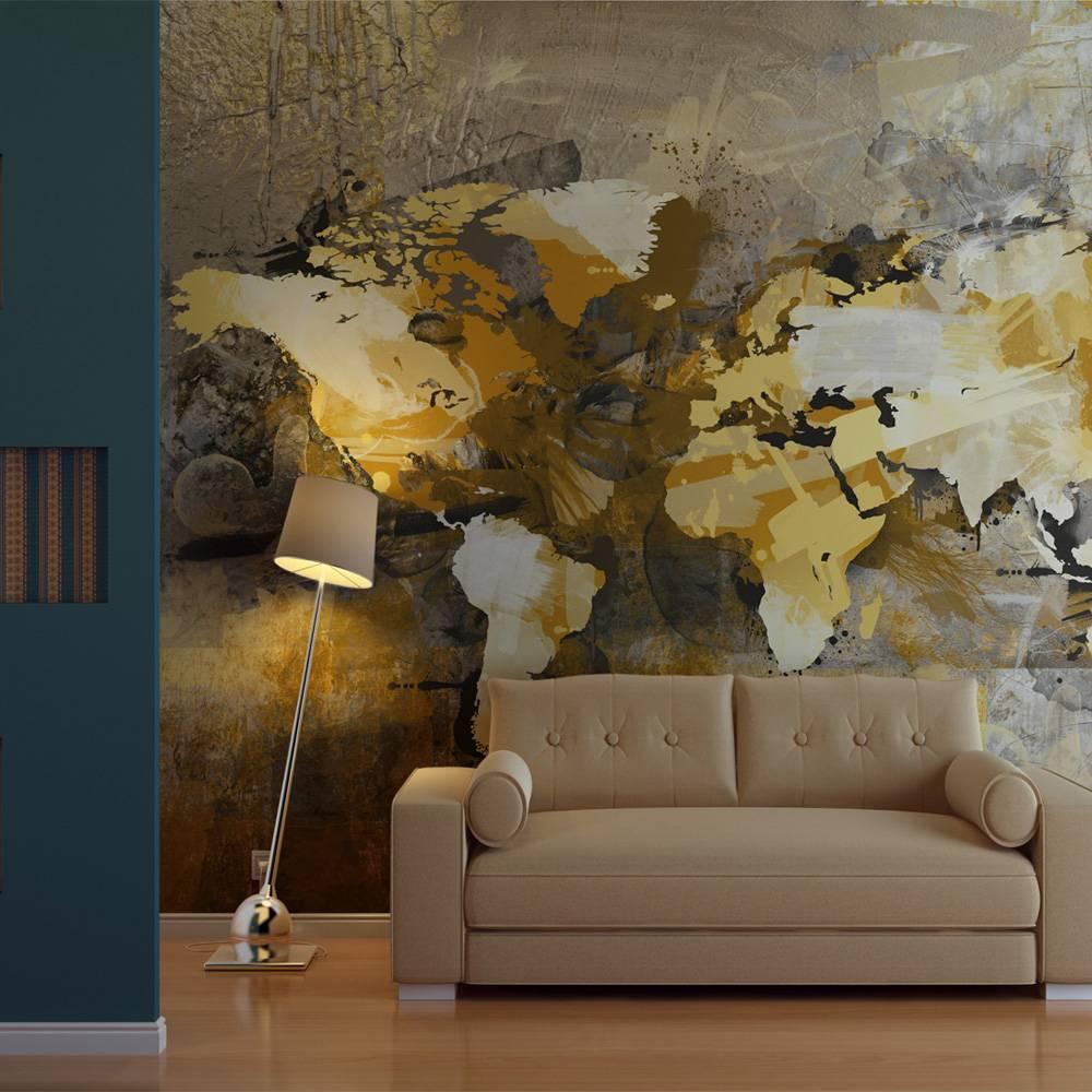 Fotobehang – Artistieke kaart van de Wereld   Karo-art   5902875827650
