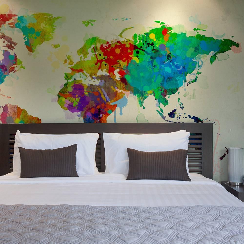 Fotobehang – Wereld in kleuren | Karo-art | 5902875827711