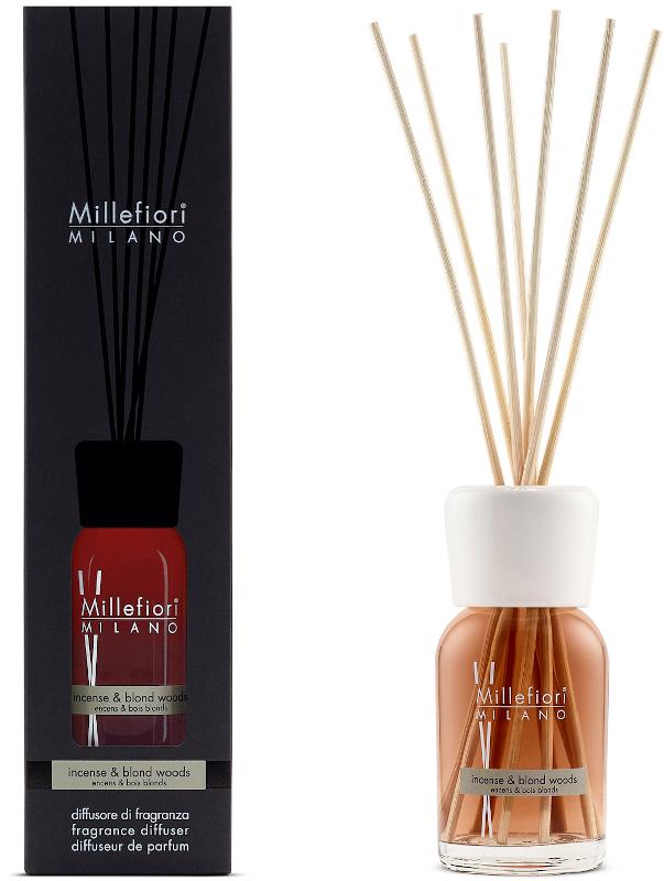 Geurstokjes 100ml Incense & Blond Woods | Millefiori Milano