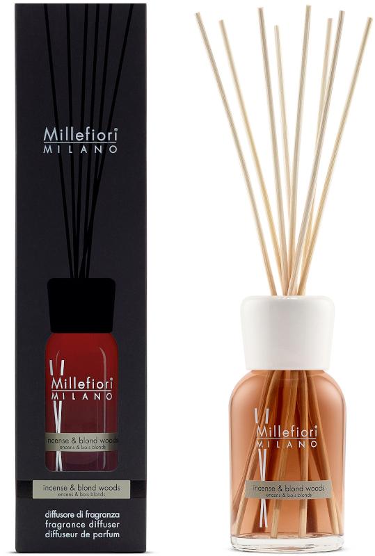Geurstokjes 250ml Incense & Blond Woods | Millefiori Milano