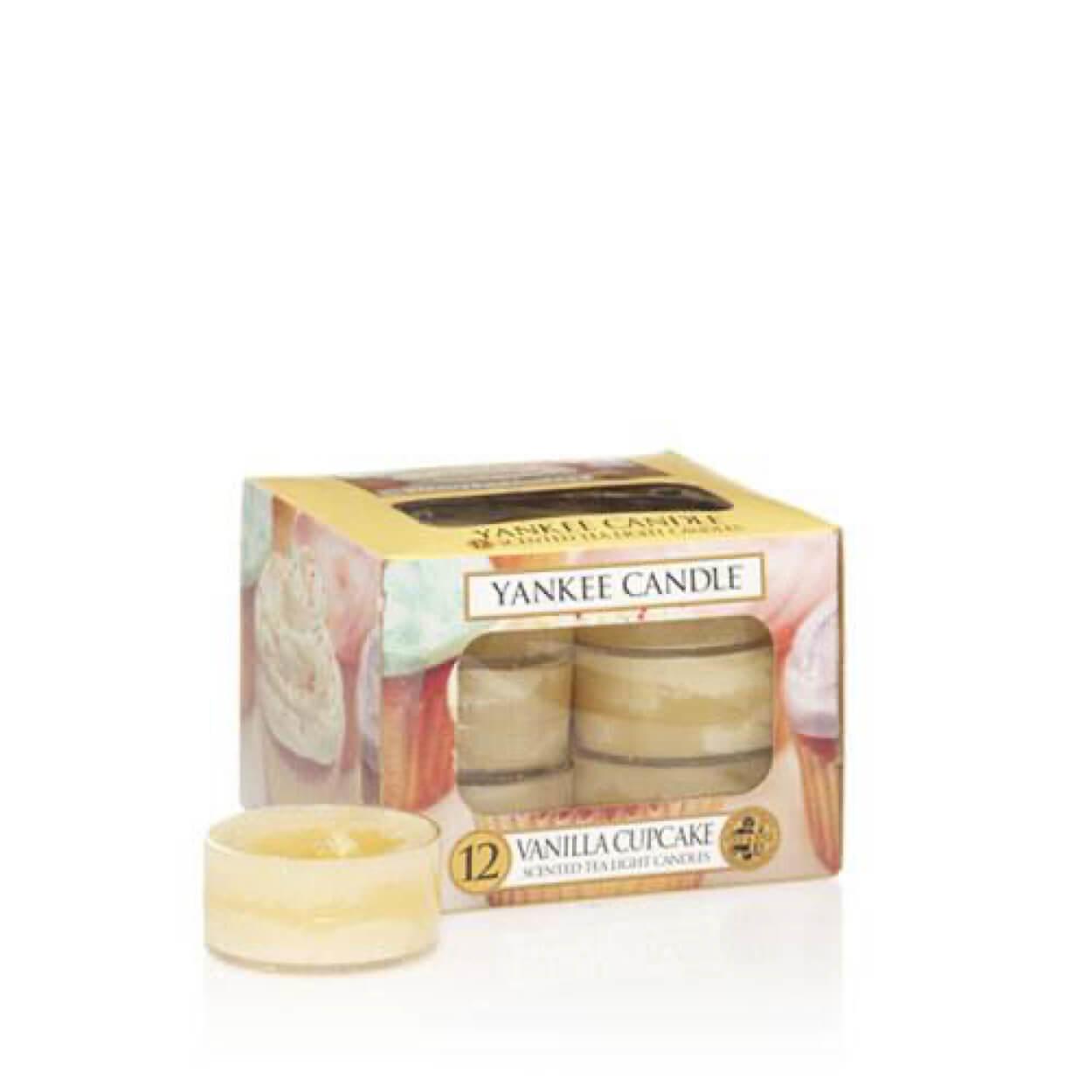 Vanilla Cupcake waxinelichtjes 12 stuks | Yankee Candle